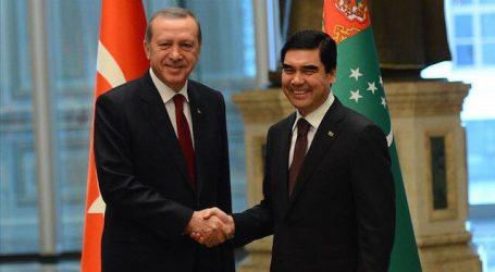 أردوغان يبحث مع نظيره التركماني القضايا الإقليمية