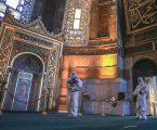 استعدادا لأول صلاة عيد.. بلدية إسطنبول تعقم مسجد آياصوفيا