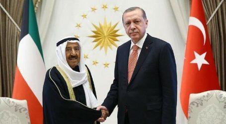 أمير الكويت يبعث رسالة للرئيس أردوغان