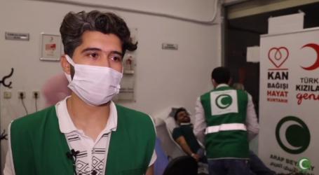 للمرة الثانية..متطوعو الهلال الأبيض العربي في ولاية أورفا يتبرعون بالدم لأشقائهم في فلسطين